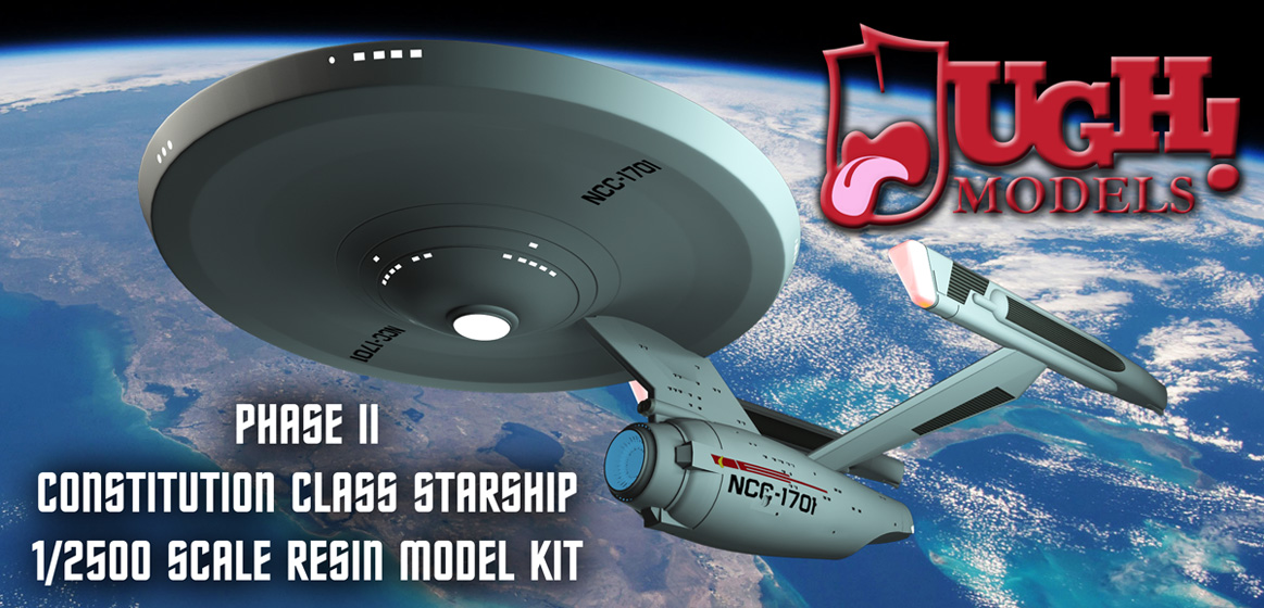 1/2500 Phase II Constitution Class Starship