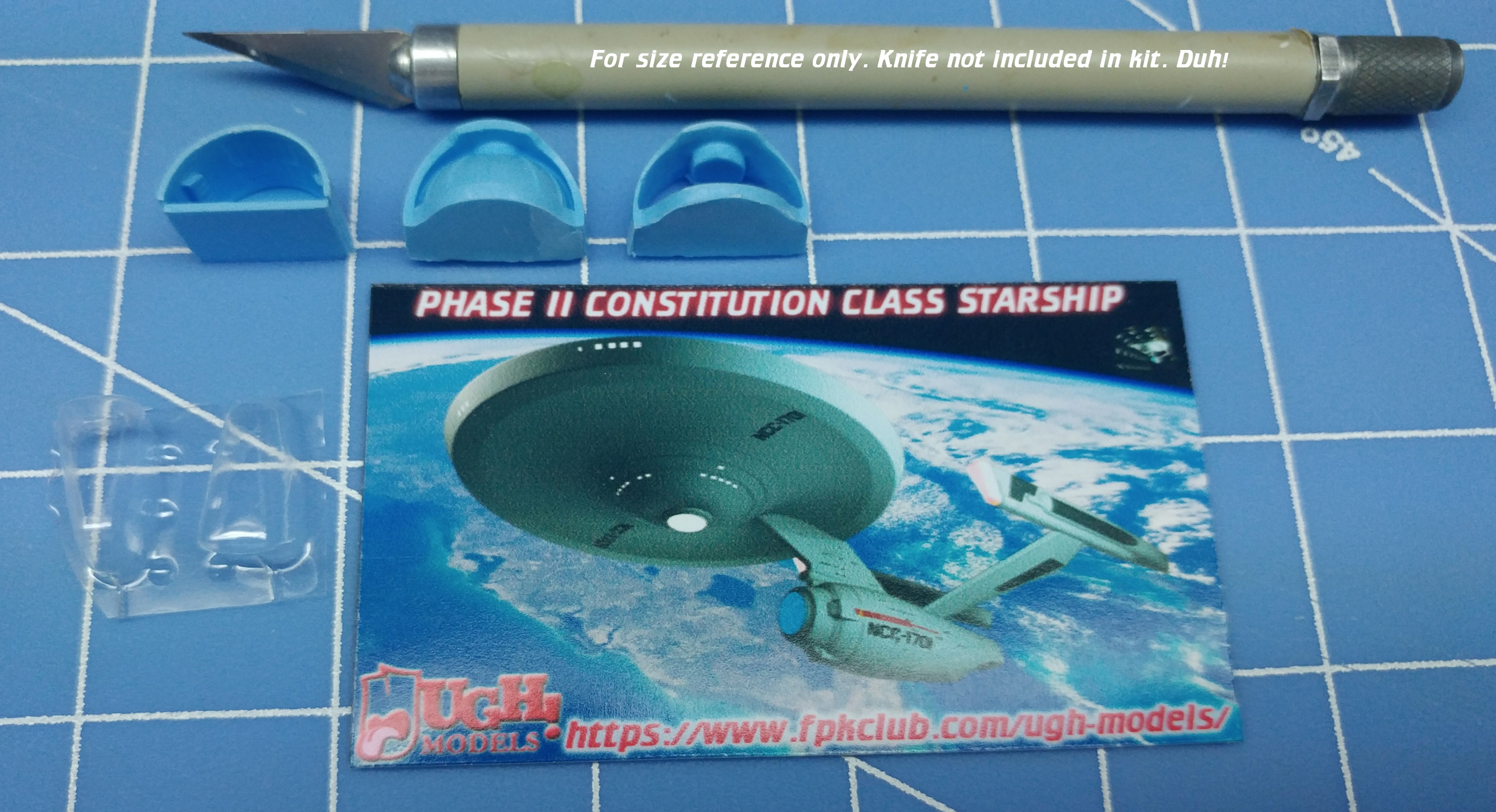 1/1000 Phase II Constitution Class Starship